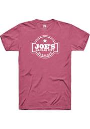 Joes Kansas City Bar-B-Que Heather Raspberry Logo SS Tee