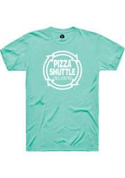 Pizza Shuttle Mint Logo SS Tee