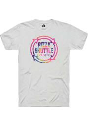 Pizza Shuttle Logo White Fleck SS Tee