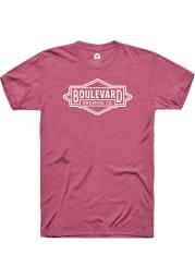 Boulevard Brewing Co. Heather Raspberry Prime Logo SS Tee