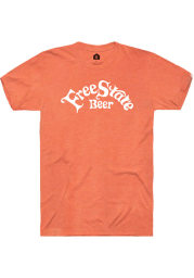 Free State Brewing Co. Heather Orange Prime Logo Short Sleeve T-Shirt