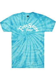 Free State Brewing Co. Turquoise Tie-Dye Prime Logo Short Sleeve T-Shirt