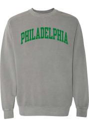 Rally Philadelphia Mens Charcoal Arch Wordmark Long Sleeve Crew Sweatshirt