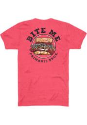 Primanti Bros. Heather Red Bite Me Short Sleeve T-Shirt