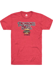 Primanti Bros. Heather Red Prime Logo Short Sleeve T-Shirt