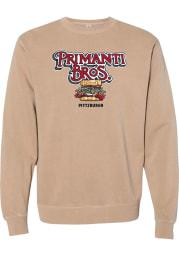 Primanti Bros. Sandstone Prime Logo Long Sleeve Crew Sweatshirt