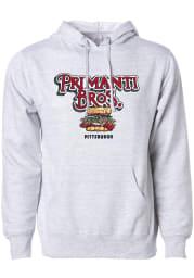Primanti Bros. Grey Heather Prime Logo Long Sleeve Hood Sweatshirt