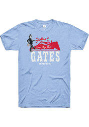 Gates Bar-B-Q Light Blue Building Short Sleeve T Shirt