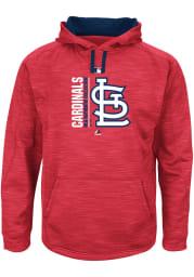 St Louis Cardinals Mens Red Streak Fleece Big and Tall Hooded Sweatshirt