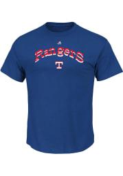 Texas Rangers Mens Blue Wordmark Logo Big and Tall T-Shirt