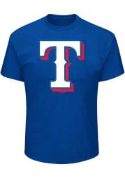 Texas Rangers Mens Blue Logo Big and Tall T-Shirt