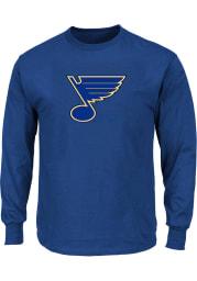 St Louis Blues Mens Blue Logo Big and Tall Long Sleeve T-Shirt