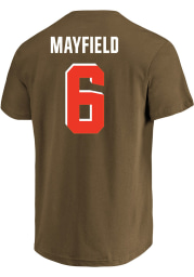 Baker Mayfield Cleveland Browns Mens Name and Number Big and Tall Player Tee - Brown
