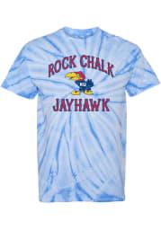 Rally Kansas Jayhawks Blue Spiral Tie Dye Short Sleeve Fashion T Shirt