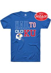 Rally Kansas Jayhawks Blue Football Hail To Old Short Sleeve Fashion T Shirt