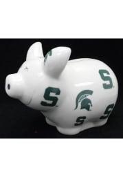 Michigan State Spartans Plastic Piggy Piggy Bank