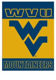 West Virginia Mountaineers Silk Screen Sleeve Banner