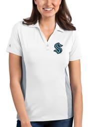 Antigua Seattle Kraken Womens White Venture Short Sleeve Polo Shirt
