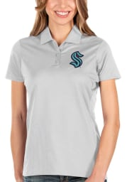 Antigua Seattle Kraken Womens White Balance Short Sleeve Polo Shirt