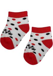 Ball State Cardinals Polka Dot Baby Quarter Socks