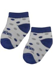 Drake Bulldogs Polka Dot Baby Quarter Socks