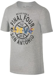 March Madness Youth Grey Four Team Circle Short Sleeve Tee
