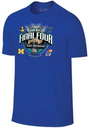 Kansas Jayhawks Blue 4 Team Alamo Short Sleeve Fashion T Shirt