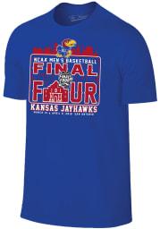 Kansas Jayhawks Blue San Antonio Short Sleeve Fashion T Shirt