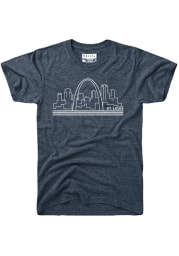 Rally St Louis Navy Blue Skyline Short Sleeve T Shirt