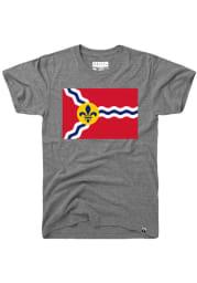 Rally St Louis Grey City Flag Short Sleeve T Shirt