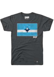 Rally Springfield Grey City Flag Short Sleeve T Shirt