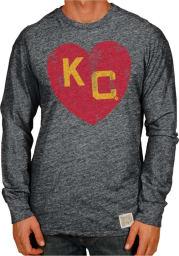 Original Retro Brand Kansas City Monarchs Black Heart Long Sleeve Fashion T Shirt