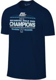 Villanova Wildcats Navy Blue 2019 Big East Champions Short Sleeve T Shirt