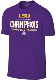 LSU Tigers Purple 2019 SEC Football Conference Champions Short Sleeve T Shirt