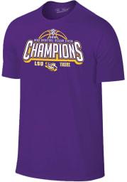 LSU Tigers Purple 2019 SEC Champions Short Sleeve T Shirt