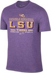 LSU Tigers Purple 2019 College Football Playoff Bound Short Sleeve Fashion T Shirt