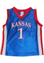 Kansas Jayhawks Toddler Blue Dazzle Basketball Jersey Basketball Jersey