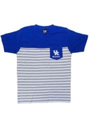 Kentucky Wildcats Youth Blue Color Block Short Sleeve Fashion T-Shirt