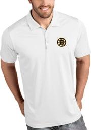 Antigua Boston Bruins Mens White Tribute Short Sleeve Polo