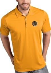 Antigua Boston Bruins Mens Gold Tribute Short Sleeve Polo