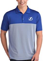 Antigua Tampa Bay Lightning Mens Blue Venture Short Sleeve Polo