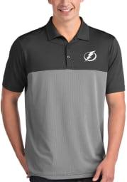 Antigua Tampa Bay Lightning Mens Grey Venture Short Sleeve Polo