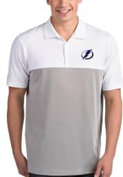 Antigua Tampa Bay Lightning Mens White Venture Short Sleeve Polo