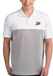 Antigua Anaheim Ducks Mens White Venture Short Sleeve Polo
