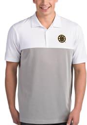 Antigua Boston Bruins Mens White Venture Short Sleeve Polo
