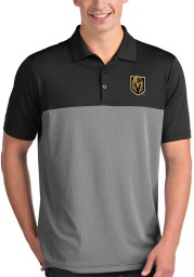 Antigua Vegas Golden Knights Mens Black Venture Short Sleeve Polo