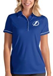 Antigua Tampa Bay Lightning Womens Blue Salute Short Sleeve Polo Shirt