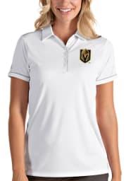 Antigua Vegas Golden Knights Womens White Salute Short Sleeve Polo Shirt