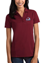 Antigua Colorado Avalanche Womens Red Tribute Short Sleeve Polo Shirt