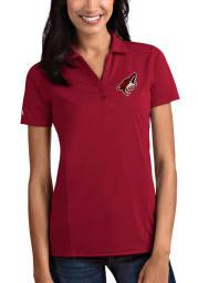 Antigua Arizona Coyotes Womens Cardinal Tribute Short Sleeve Polo Shirt
